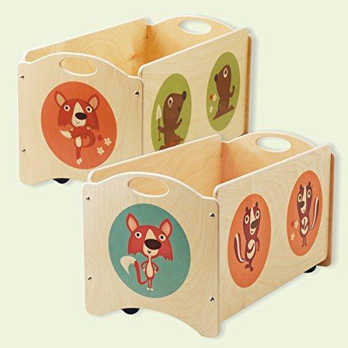 Dida - Baúles para niños - Pancotti con zorros, topos y mofetas