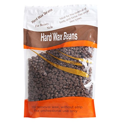 Challeng Keine Streifen Enthaarungsmittel Hot Film Hard Wax Pellet Waxing Bikini Haarentfernung Bean (Kaffee)