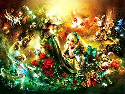 t mosaik Diamant malerei dekorative malerei niedliche Comic-Figuren animierte Bilder dekorationornamente handmadegift, 30x40cm ()