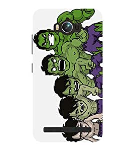 Chiraiyaa Designer Printed Premium Back Cover Case for Asus Zenfone Max (hulk transforming) (Multicolor)