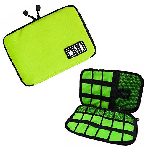 Preisvergleich Produktbild Wasserdicht Multifunktionale Kabelaufbewahrungstasche / Reisetasche Organizer-Kasten (Grün)
