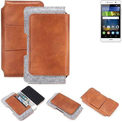 K-S-Trade® Gürteltasche Für Huawei Y6Pro LTE Gürtel Tasche Schutz Hülle Hüfttasche Belt Case Schutzhülle Handy Hülle Smartphone Sleeve Aus Filz + Kunstleder (1 St.)
