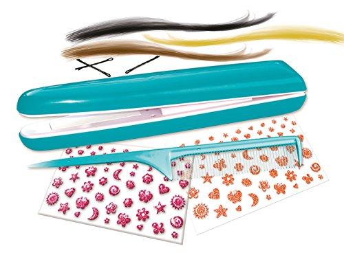 5140xGvxGtL - Lena 42537 Top Chic - Set de Plancha de Pelo para niños a Partir de 8 años con Dispositivo de Peinado a Pilas, Tatuajes para el Pelo, Peine, Piezas para el Pelo en 3 Colores y Pinzas para el Pelo