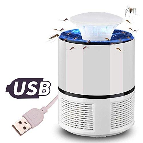 Cherbell LED Bug Zapper lampade Elettriche uccisore di Zanzare Lampada Anti Zanzara Insetti Volanti Killers con cavo USB Trapola zanzare Bianca