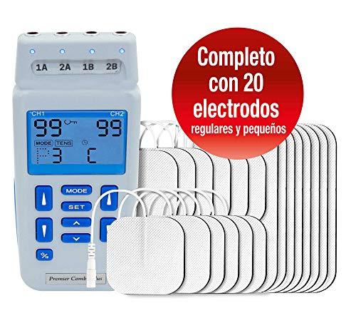 Med-Fit Premier EV906 Máquina de estimulación y estimulación muscular TENS de 4 canales con ajuste...