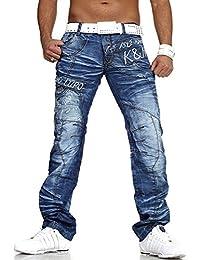 Kosmo lupo - Jeans fashion coupe droite Jean Kosmo Lupo 322 bleu - Bleu