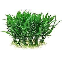 Sonline Fish Tank Acuario Plantas Adorno, Paquete de 5, Color Verde