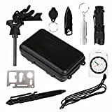 Survival Kit, 10 in 1 Selbsthilfe Außen Survival Set Notfall Self Help Sport Camping Survival Box