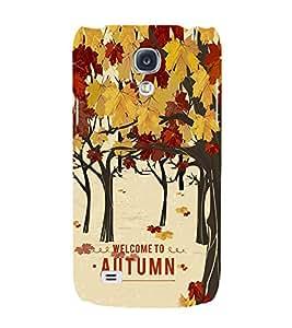 Fiobs Designer Back Case Cover for Samsung Galaxy S4 I9500 :: Samsung I9500 Galaxy S4 :: Samsung I9505 Galaxy S4 :: Samsung Galaxy S4 Value Edition I9515 I9505G (Tree Art Theme Autumn )