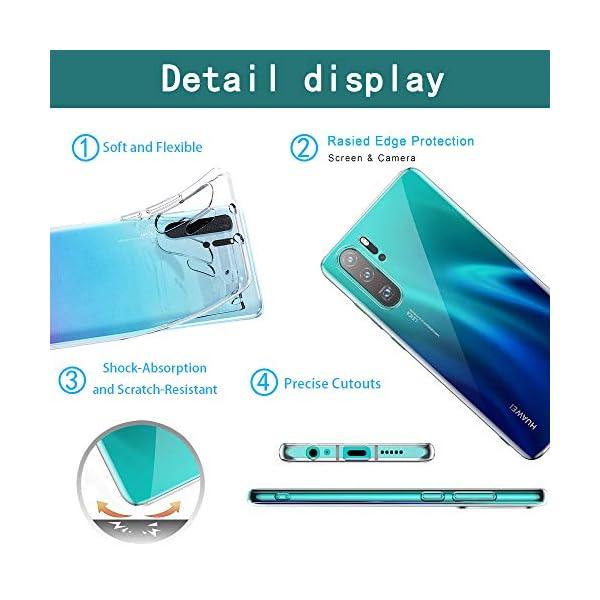 Oihxse Transparente Silicona Case Compatible con Huawei Enjoy 8 Plus/Y9 2018 Funda Suave TPU Protección Carcasa Moda… 5