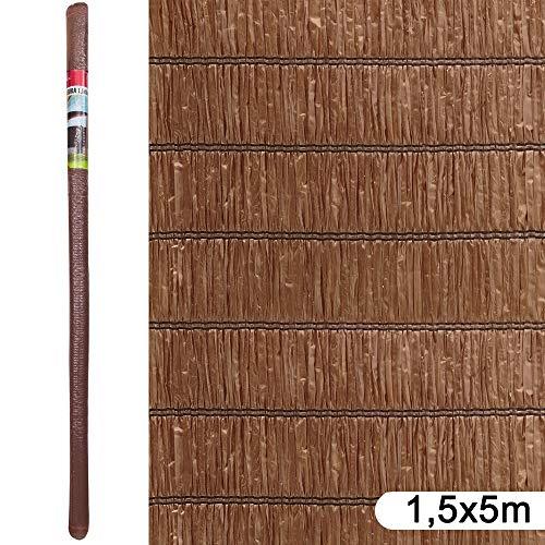 Ldk Garden Brezo sintético de ocultación marrón 5 x 1,5 m, Natural