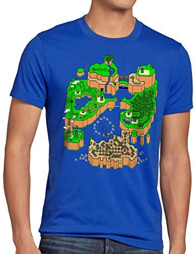 CottonCloud Mario Mapa Camiseta Hombre T-Shirt Consola