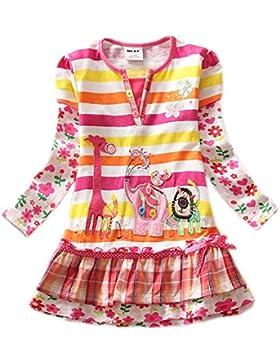 Kleid Mädchen (0-7 Jahre alt) Mieldorie 1PC Baumwolle Prinzessin Party Kleid