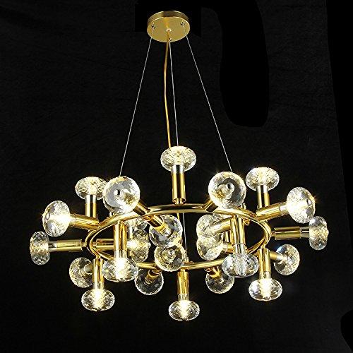 Suspensions Lustre classique en cristal à base de cristal à LED, 25
