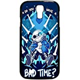 Undertale Sans Do You Wanna Have A Bad Time Case / Color Black Rubber / Device Samsung Galaxy S4