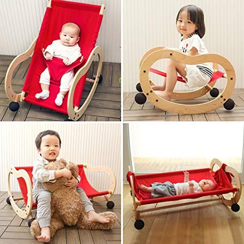 Schaukelstuhl Sleepy Baby, Multifunktions-Komfort Wiege Bett Kleinkind Recliner (Farbe : Bunte) - Eisen-baby-wiege
