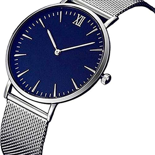 Frauen Uhren,Moeavan Frauen QuarzUhren Clearance DamenUhren weibliche Uhren analoge EdelStahluhr (Silber-)