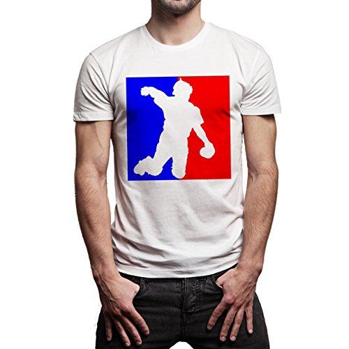 SWAG Some Game Blue Red Background Herren T-Shirt Weiß