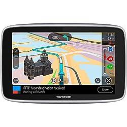 TomTom GO Premium (6 Pouces) - GPS Auto - Cartographie Monde, Trafic, Zones de Danger à Vie (via Carte SIM Incluse) - Le dernier kilomètre et IFTTT