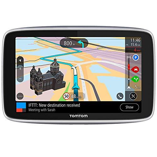 TomTom GO Navigatore Premium GPS 6', Aggiornamenti Tramite Wi-Fi, Mappe del Mondo, Traffico e Autovelox a Vita (SIM Inclusa), Last Mile Navigation e IFTTT