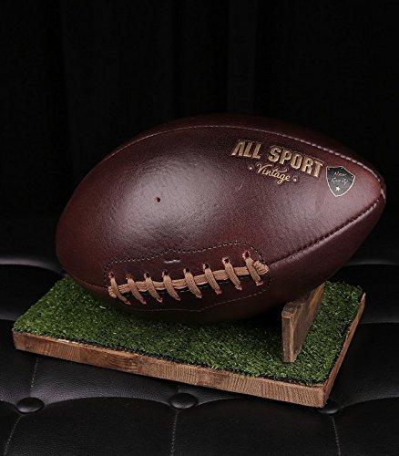 Balón de fútbol americano.–green-tee