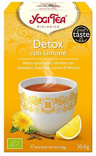 Yogi Tea Infusión de Hierbas Détox con Limón - 17 bolsitas