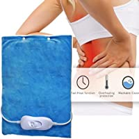 ELECTRIC HEATED PAD THERMAL HEATING UPPER BACK NECK PAIN RELIEF THERAPY RELAX
