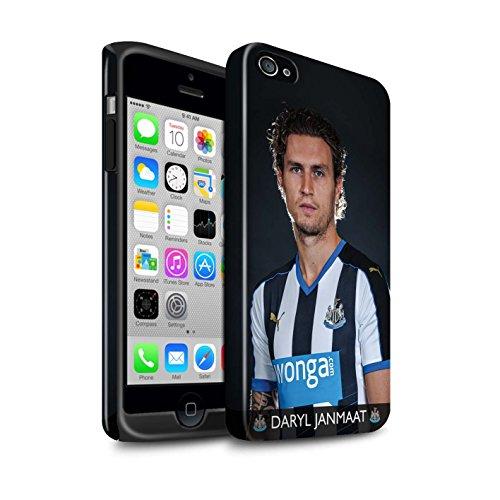 Offiziell Newcastle United FC Hülle / Glanz Harten Stoßfest Case für Apple iPhone 4/4S / Pack 25pcs Muster / NUFC Fussballspieler 15/16 Kollektion Janmaat