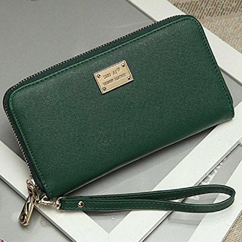 Borsa Familizo Elegant Signora Women borsa della frizione Portafoglio Holder Piccolo sacchetto della carta Verde