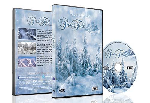 Weihnachten und Winter DVD - Schneefall - Winderlandschaften von Bergen und Wälder mit fallendem Schnee und entspannenden natürlichen Geräuschen - Perfekt für lange Winterabende