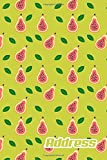 Address.: Address Book. (Vol. C67) Pear Fruit Cover Design. Glossy Cover,Contract Large Print, Font, 6