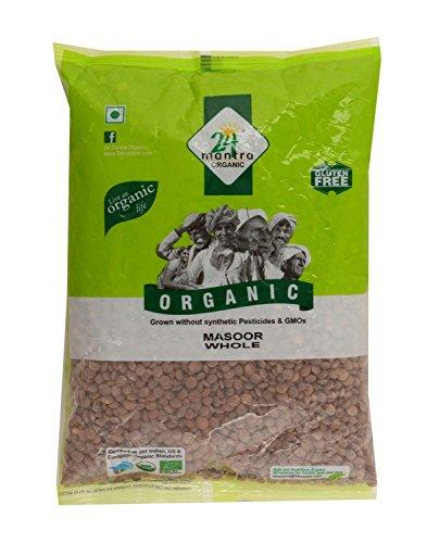 24 Mantra Organic Products Masoor Whole, 500g(2 pcs)