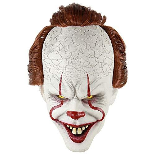 Máscara de Payaso Stephen King'S It Mask Pennywise Horror Clown Joker Máscara Halloween Cosplay Disfraces Atrezzo