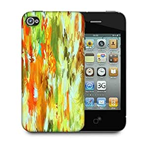 Snoogg Abstract Paint Designer Protective Back Case Cover For Apple Iphone 4