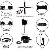 10 pezzi accessori neri bondaged per coppie