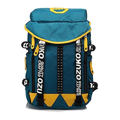 BESTSOON Reise-Laptop-Rucksack Männer Reisen Rucksack Camo Casual Wasserdichte Oxford Tuch Laptop Daypack Commerce Geschäftsreise Schule Computer Tasche für Frauen Männer (Farbe : Blau) -
