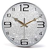 Orologio da Parete Muto Grandi Orologi al Quarzo Fai-da-Te, Struttura in Metallo con Copertura in Vetro a Parete dell'obiettivo, Orologio Silenzioso Senza ticchettio Secondi Secondi (Colore: