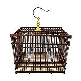 Xinxinchaoshi Cage à Oiseaux rectangulaire Cage à Oiseaux intérieure et extérieure Brune, matériau écologique respectueux de l'environnement, adapté à la Reproduction de Petits Oiseaux