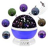 360 Rotierenden Projektionslampe Himmel mit Sternen Pädagogisches Spielzeug,Multifunktional Nachtlichter für Party, Geburtstag, Weihnachten, Babyzimmer, Kinderzimmer