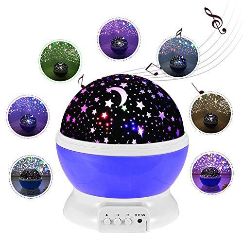 (Sternenhimmel Projektor Lampe Kinder, LED Nachtlicht Rotierend mit LED Birnen Timer-Schalter Sky-Star Night Light für Festival Dekoration Geschenk Perfektes für Kinder Geburtstage Halloween usw)