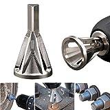 FunMove .dghf Entgraten Externe Fasenwerkzeug Entfernen Fräser Werkzeug für Bohrer Edelstahl Beseitigung beschädigter Abzieher Silber Passend für Größe 8-32 Schrauben