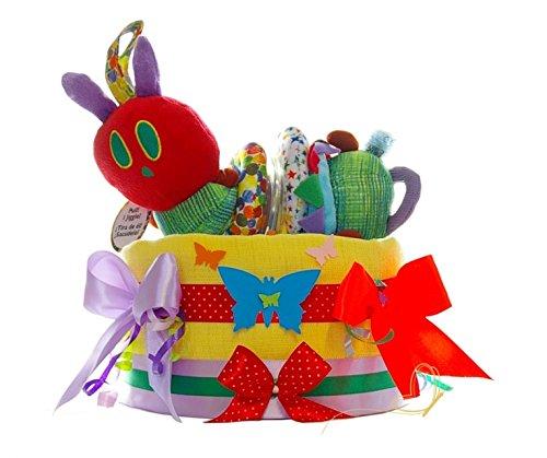 Pampers Windeltorte Raupe Nimmersatt bunt - Baby Geschenke zur Geburt - dubistda© handmade