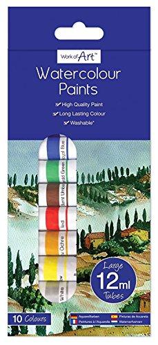 10Wasserfarben Röhren 12ml Art Craft Künstler Kinder Hobby Arbeit Farbe Schule Geschenk