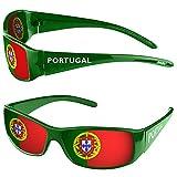 Taffstyle® Fanartikel Sonnenbrille Fan Brille zur Fussball Weltmeisterschaft WM & EM Europameisterschaft 2016 Länder Flagge Style - Portugal