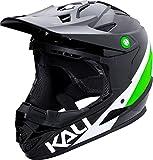 Kali Protectives 0210618137 Casque de BMX intégral Mixte Adulte, Noir/Lime, Taille :...