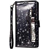 Yobby Glitzer Brieftasche Hülle für Samsung Galaxy S8, Samsung Galaxy S8 Schwarz Handyhülle Bling Slim Reißverschluss... preisvergleich bei billige-tabletten.eu