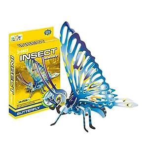 acheter Insecte, Papillon Bleu 3D-puzzle