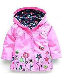 sevenelks Kid chica lluvia chaqueta con capucha abrigo Outwear impermeable para hombre