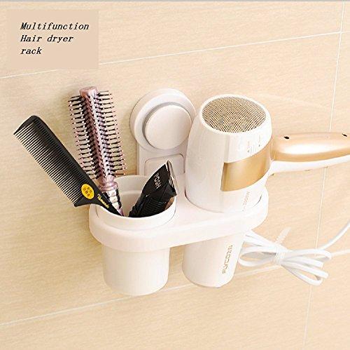 Haartrocknerhalter Befestigung ohne bohren Multifunktional Haartrockner Rack Fönhalter Wandhalter Badezimmer Organizer Aufbewahrung