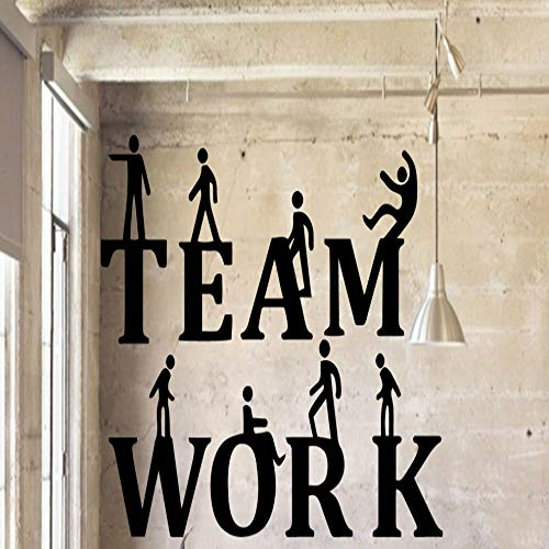 BFMBCH Teamwork Familie Wandaufkleber Wandbild Künstler Wohnen Dekoration Kinderzimmer Wohnzimmer Lounge Meetings Are Applique Murals Home Wandaufkleber Blau L 43cm X 70cm